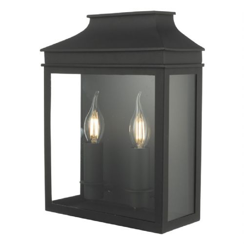Vapour 2 Light Coach Lantern Black IP44  VAP5022